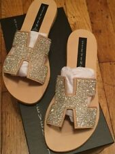 f4e3d17eb31 STEVEN by Steve Madden Women s Greece Slide Sandals Blush Multi rhinestone sz  6