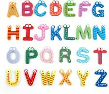 26 Pcs Wooden Magnets Alphabet Letters Preschool Learning Educational Toy