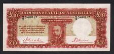 Australia R-57. (1934) 10 Pounds - Riddle/Sheehan.. KGV Portrait..  aVF - SCARCE