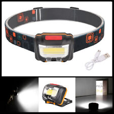 COB LED DualSwitch Induction Headlamp USB Rechargeable Headlight Head Torch Lamp