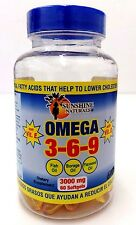 Sunshine Naturals Omega 3-6-9 3000mg 60 softgels