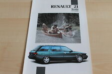 115867) Renault R 21 Nevada TXI 12V Prospekt 08/1991