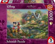 Thomas Kinkade Disney Mickey & Minnie Mouse 1000 Piece Schmidt Jigsaw Puzzle