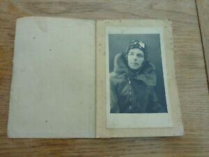 "WW2 ORIGINAL FINE PHOTO PORTRAIT RAF PILOT IN FOLDER TAKEN ROTHERHAM 6 X 4"""