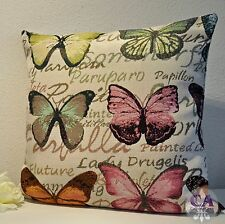 #10693 Kissenhülle Kissen 40x40cm Große Schmetterlinge Papillon Gobelin Landhaus