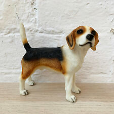 More details for lifelike standing beagle dog pet indoor ornament statue figurine resin clearance