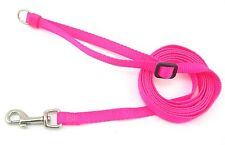 "HAMILTON Adjustable Nylon Dog Lead with D-ring, 3/8""x (4' to 6'), Hot Pink"
