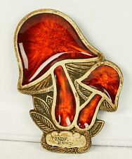 Vintage Ponderosa Ranch Mushroom Trinket Dish Or Wall Hanging Treasure Craft USA