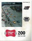 1984  Miller High Life  200  Race Program Milwaukee