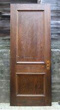 "2 avail 32""x83""x1.75 34; Antique Vintage Solid Oak Wood Wooden Interior Door Panels"
