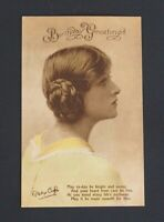Vintage Coloured Postcard - BIRTHDAY GREETINGS - Gladys Cooper Philco Series VGC