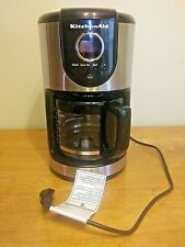 KitchenAid 12-Cup Glass Carafe Coffee Maker Onyx Black