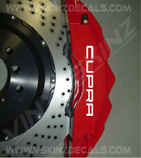 SEAT CUPRA Premium Brake Caliper Decals Stickers Ibiza Leon Sport FR R Altea ST