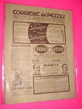 CORRIERE DEI PICCOLI anno 1914 n. 5 con sovracopertina pubblicitaria