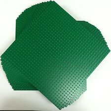 "LEGO 626 (lot of 20) Green Baseplate (10""x10"") 32x32 studs New Free US Shipping"