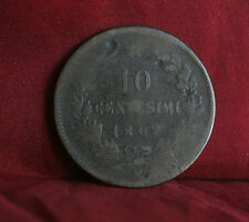 10 Centesimi 1862  Italy World Coin Copper KM11.2 Vittorio Emanuele ten cents