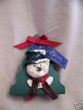 SnowSnickle Snowman Pin by Enesco 1998 New