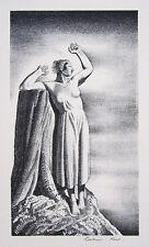 "ROCKWELL KENT Signed 1931 Original Lithograph ""Farewell"""