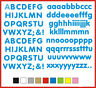 SELF ADHESIVE LETTERS stickers graphics Rounded 20mm OR 25mm high vinyl alphabet