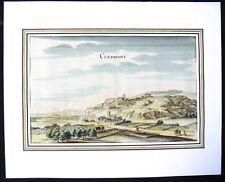 Belle Gravure Colorée 17-18è de Clermont (Oise)