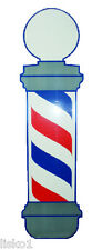 """Barber Shop Window Barber Pole Decal VT160  37""""x 10"""" Static - Cling to glass"""