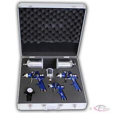 Tectake 3x pistolas de pintar pulverizadora pintura Hvlp 1 7 1 3 0 8 mm Maletín conjunto