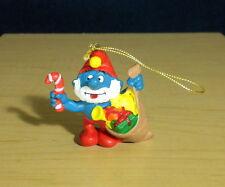 Papa Smurf Santa Christmas Ornament Smurfs Vintage Figure Toy PVC Figurine 51903