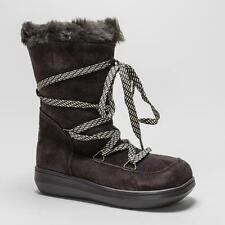 Wedge Suede Lace Up Boots for Women