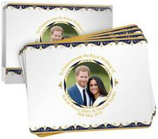Royal Wedding 2018 Placemats Set of 4 Prince Harry & Meghan Markle Commemorative