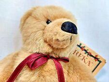 "Russ Eureka Antique Repro Linda Spiegel Lohre 11"" Jointed Plush Teddy Bear NWT"