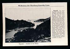 Shipping HAMBURG-AMERIKA LINIE Japan Nagasaki 1913 PPC