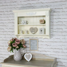 Ornate cream wall shelving unit vintage French 2 shelf bedroom bathroom hallway