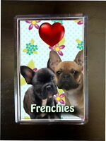 French Bulldogs Gift Dog Fridge Magnet 77x51mm Xmas Birthday Mothers Day Gift