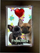 French Bulldogs Gift Dog Fridge Magnet 77x51mm Xmas stocking filler Bulldog