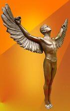 BRONZE STATUE, SIGNED ICARUS GREEK MYTHOLOGY ART  HOT CAST SCULPTURE FIGURE