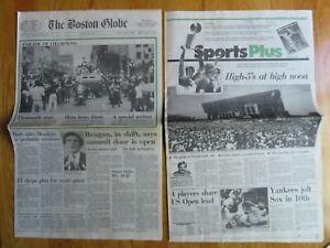 BOSTON GLOBE June 15, 1984 CELTICS Newspaper PARADE CHAMPIONS Bird McHale Parish