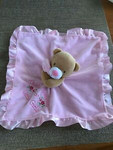 Baby Starters Pink Security Blanket Brown Bear Thank Heaven For Little Girls VGU