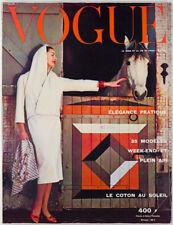 PARIS VOGUE magazine May 1957 WEEKEND DRESSING Spring COTTON Sun dress VTG Mai