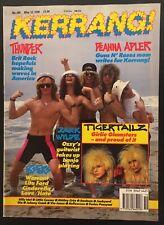 KERRANG 289 1990 Vintage 90s Rock Magazine DIO Motley Mick Mars WARRANT PINUP
