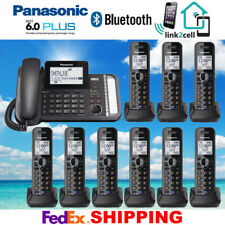 PANASONIC KX-TG9582B 2-LINE BLUETOOTH MUSIC ON HOLD CORDED - 9 CORDLESS PHONES