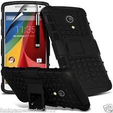 Shockproof Heavy Duty Protection Hard Double Layer Phone Case+Kick Stand✔Lenovo