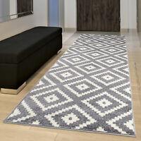 Runner Rugs for Hallway in Grey Modern Contemporary Design Hall Carpet Runner