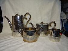 Antique 4 Piece Ornate Silver Plated Tea Set - James Dixon & Son