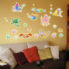 Sea World Waterproof Glow In The Dark Kids Wall Stickers Small Size 22*30 cm