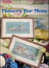 """Leisure Arts - Leaflet 669 """"Flowers For Mom"""" Counted Cross Stitch Chart Booklet"""