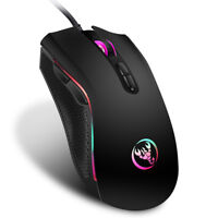 HXSJ A869 USB Wired Colorful Gaming Mouse 3200DPI 7 Buttons Optical Mouse Gw