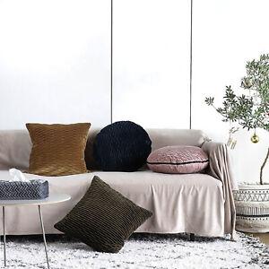 Fennco Stytles Velvet Textured Accents 18 Inch Round Throw Pillow Case