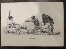 "VINTAGE 1960's PRINT OF ""STEALING HOME"" ROBERT RIGER COLLECTION"