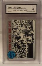 1970 TOPPS RYAN SAVES THE DAY NL PLAYOFF GAME 3 CARD #197- GRADED 6 EX-NM