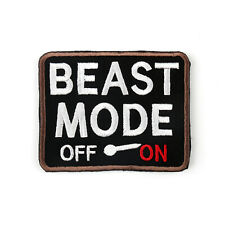 Beast Mode On Army USA Military Morale Tactical Combat Badge Swat Hook Patch